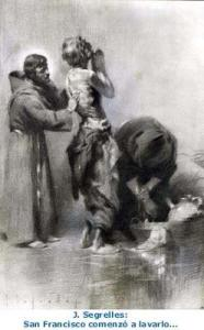 Francis and lepers