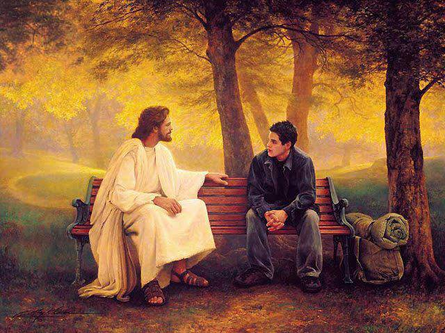 Jesus and young man
