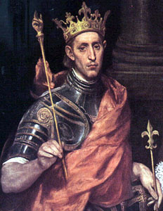 """Louis-ix"" by El Greco - Transferred from en.wikipedia; transferred to Commons by User:Sfan00_IMG using CommonsHelper.Author: Original uploader was Uri at en.wikipedia. 2003-07-01 (original upload date). Licensed under Public Domain via Wikimedia Commons - http://commons.wikimedia.org/wiki/File:Louis-ix.jpg#/media/File:Louis-ix.jpg"
