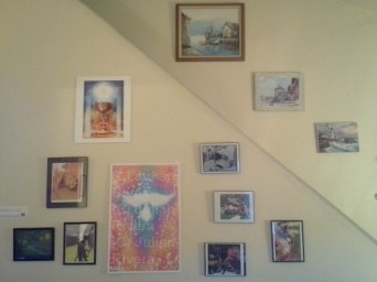 Artwork in the community room at our mother house.